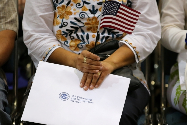 Immigrants and their advocates fear a citizenship question will lead to many not filling out the census form [Mike Blake/Reuters]