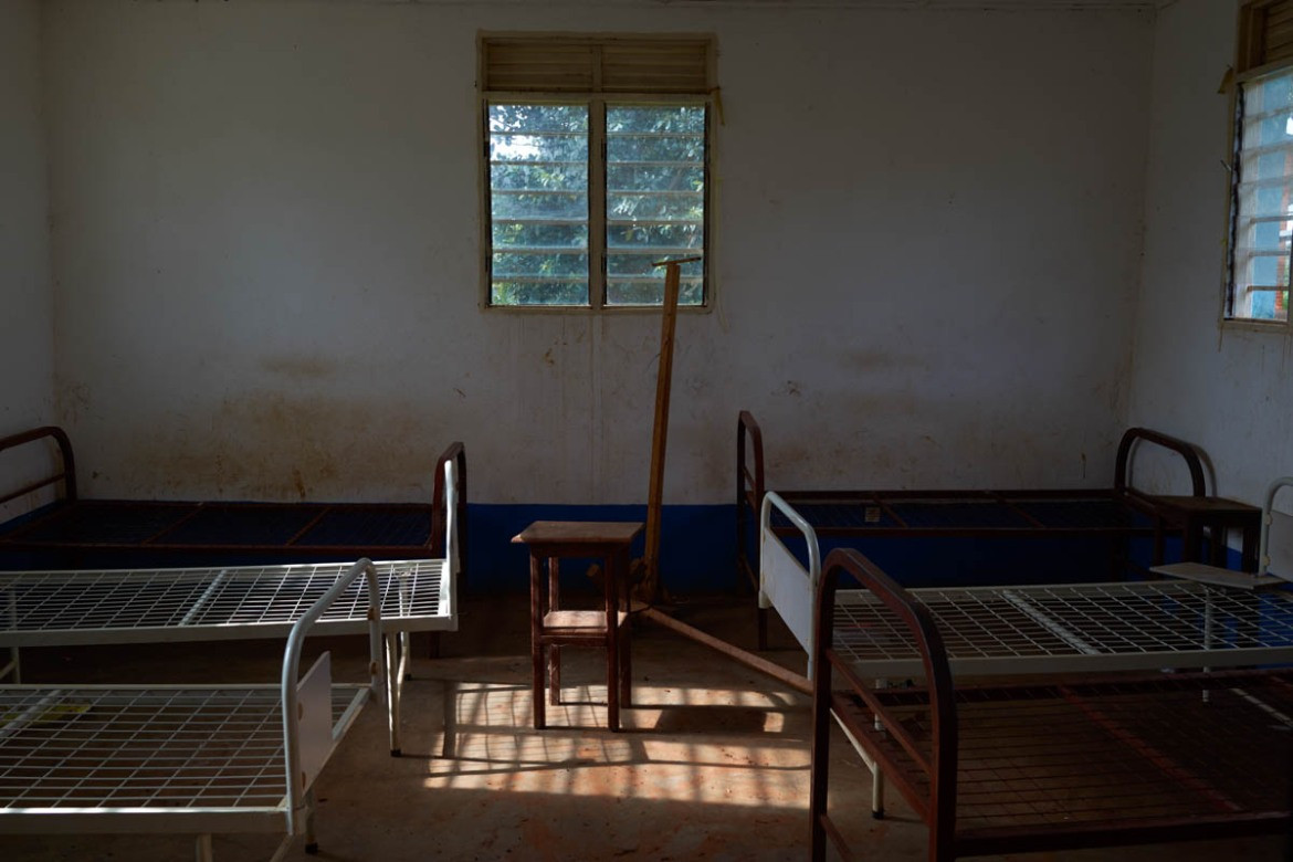 A hospital in the village of Lita is left abandoned after being ransacked in a Lendu attack which left the village completely empty. [Alex Mcbride Wilson/Al Jazeera]