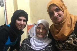 Ramz, left, Zahiya, centre, and Leila, right, have created their own traditions with the rest of the family, including a weekly gathering in the family home [Al Jazeera]