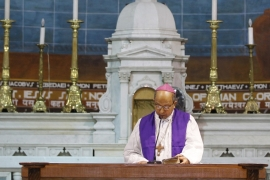 "After calling parish priests to pray to save India from the ""turbulent political atmosphere"", the Archbishop of Delhi, Anil Couto, has been accused of intervening in politics [AP]"