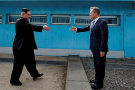 Last month, Kim Jong-un became the first North Korean leader to visit South Korea since the 1953 armistice between the two countries [Reuters]