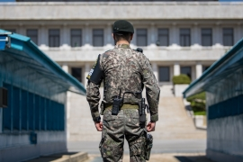 US and South Korean officials say pre-summit discussions took place in Panmunjom [Joel Lawrence/Al Jazeera]