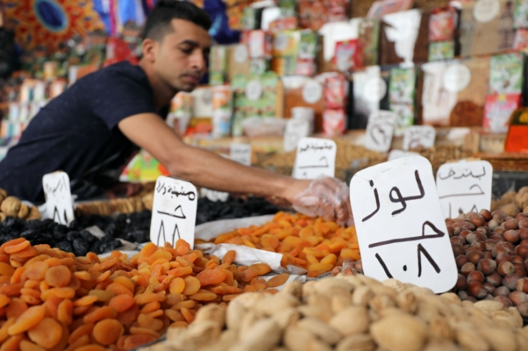Nuts are sold at a market, ahead of the Muslim fasting month of Ramadan in Egypt [Mohamed Abd El Ghany/Reuters]