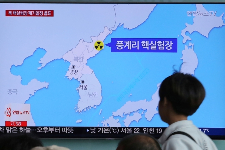 North Korea's only nuclear test site is located in the mountainous northern region of the country [Ahn Young-joon/Reuters]