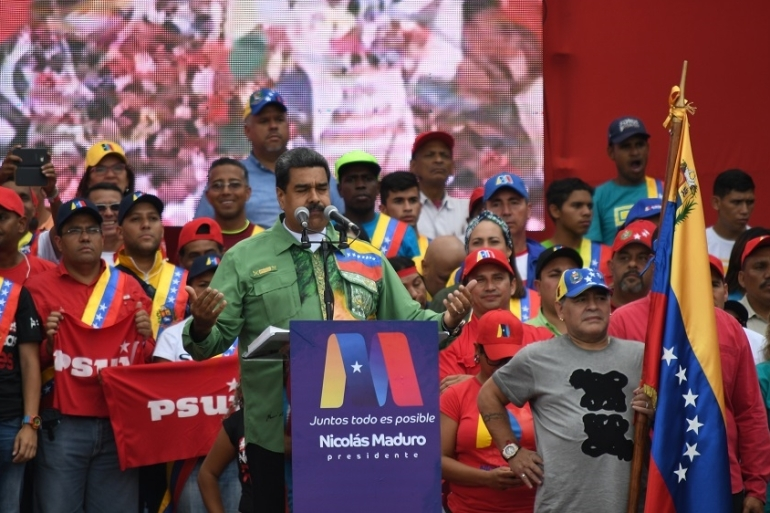 Maduro has blamed the situation on an 'economic war' being waged against Venezuela by the US and other foreign powers [Roman Camacho/SOPA Images/LightRocket via Getty Images]