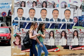 For May 6 elections, 86 female candidates will be competing for 128 seats [Mohamed Azakir/Reuters]