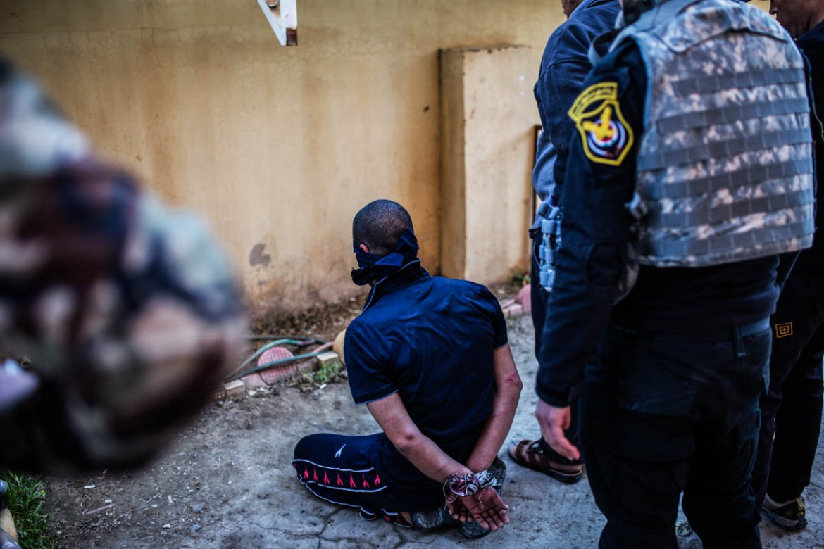 Ismail H, born in 1987, at the 'counterterrorism court' of Mosul, in Hamdaniya, Iraq. Ismail was a member of ISIL. He surrendered to the Iraqi forces. [Alessio Mamo/Al Jazeera]