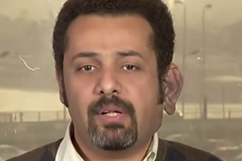 Wael Abbas alerted his followers on his Facebook account that he was being detained [Al Jazeera]