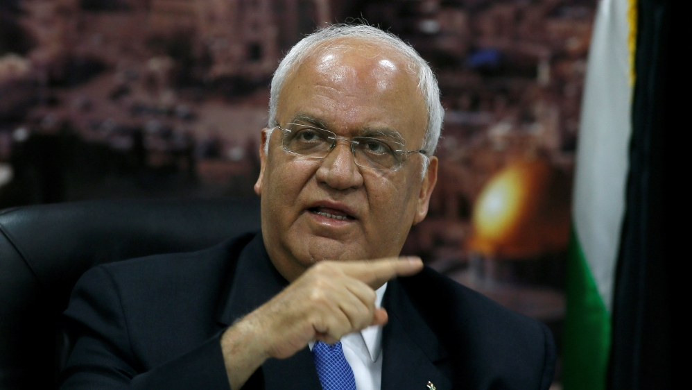 Top Palestinian Official Erekat 'Critical' from Virus, Says Hospital