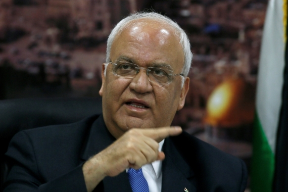 Chief Palestinian negotiator Erekat underwent a lung transplant in the US in 2017, which suppressed his immune system [File: Mohamad Torokman/Reuters]