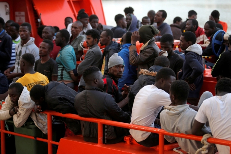 This month, many hundreds more have tried to reach Spain, with more than 2,000 arriving last week alone [Jon Nazca/Reuters]