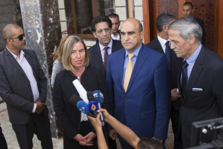Mogherini said the EU's presence in Libya will be 'much more regular' [Mohamed Ben Khalifa/The Associated Press]