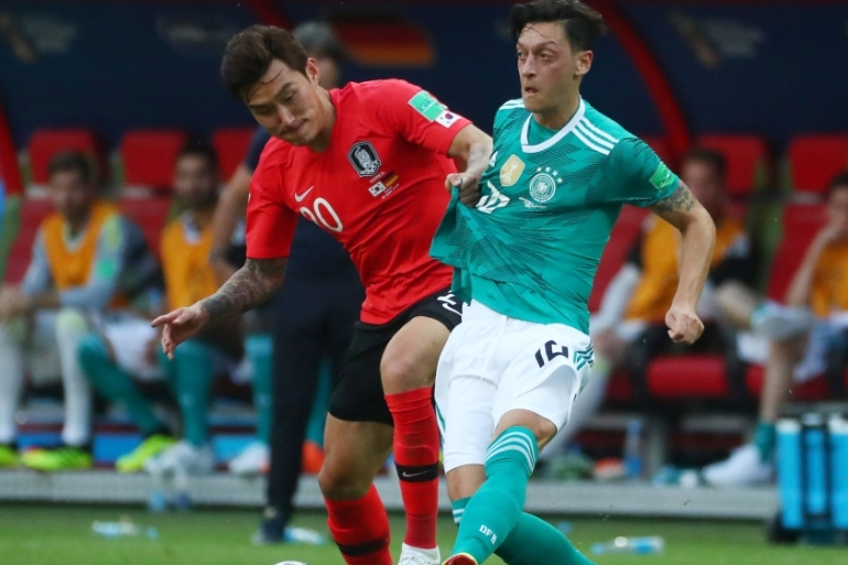 Mesut Ozil was part of Germany's national team at the World Cup in Russia [Pilar Olivares/Reuters]