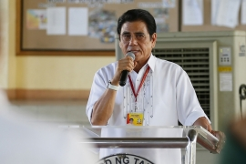 Halili has been the mayor of the city of Tanauan since 2013 [AP]