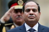 Abdel Fattah el-Sisi has not visited Sudan since former President Omar al-Bashir was overthrown in 2019 [File: Charles Platiau/Reuters]
