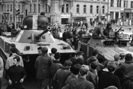 Thousands of Soviet tanks invaded Czechoslovakia on the night of August 20, 1968 [File: AP]