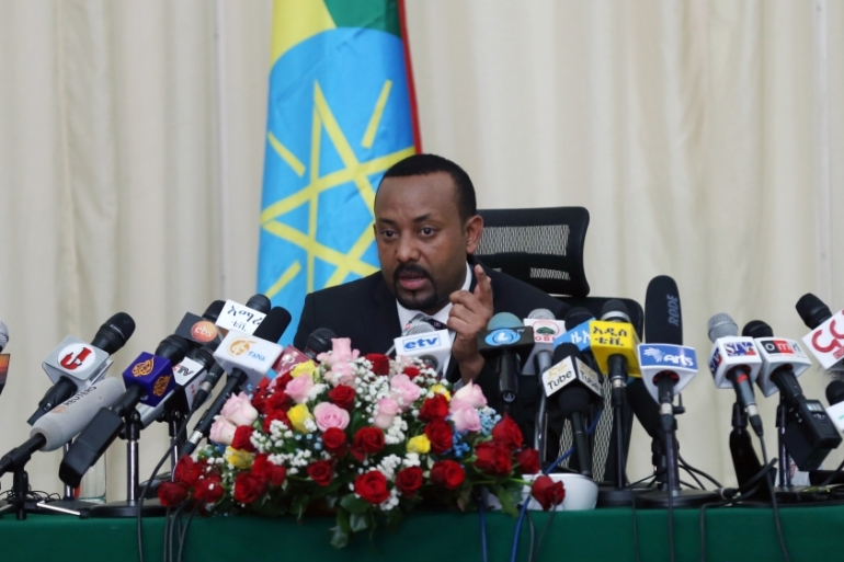 Abiy says homes, businesses and places of worship were destroyed in the protests [Minasse Wondimu Hailu/Anadolu]