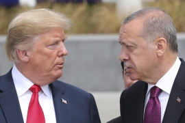 Turkey has vowed to carry out military operations against the YPG, and has condemned the US for its military relationship with the Kurdish fighters [File: Presidency Press Service via the Associated Press]