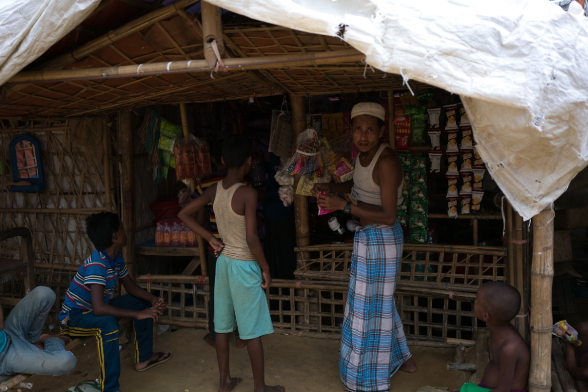 Rohingya refugees have set up shops in the camps to make a living. [Sorin Furcoi/Al Jazeera]