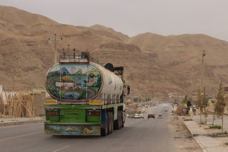 The owners of tanker services on trade routes say they regularly receive extortion threats from the Taliban [Ajmal Omari/Al Jazeera]
