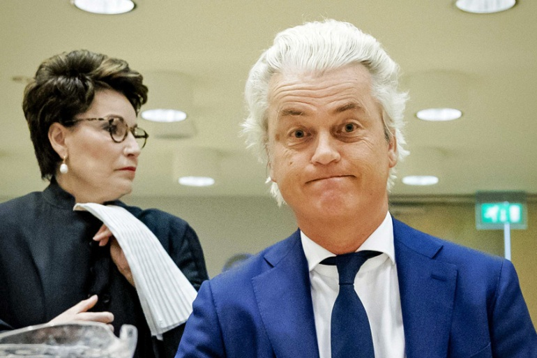 Geert Wilders was allegedly the target of an assassination attempt, police say [Robin Van Lonkhuijsen/EPA-EFE]