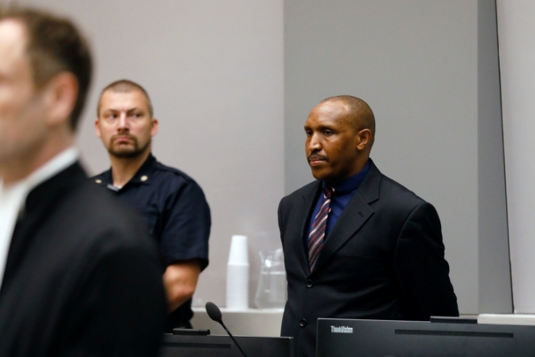 Ntaganda faces a maximum life sentence if he is convicted [Bas Czerwinski/Pool via Reuters]