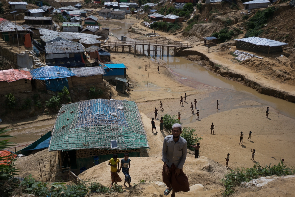 A survey carried out by Oxfam before the start of the monsoon season found that more than half of the Rohingya refugees were almost completely unprepared for the floods, landslides and disease that accompany the monsoon weather. [Sorin Furcoi/Al Jazeera]