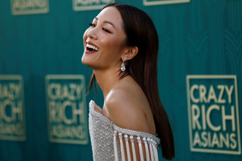 Cast member Constance Wu poses at the premiere of Crazy Rich Asians in Los Angeles, on August 7, 2018 [Reuters/Mario Anzuoni]