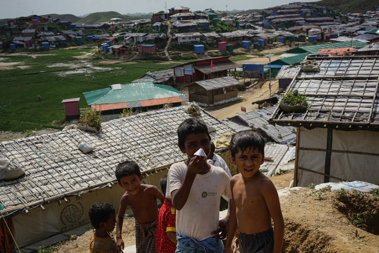 The UN estimates 200,000 Rohingya are at risk of floods and landslides [Sorin Furcoi/Al Jazeera]