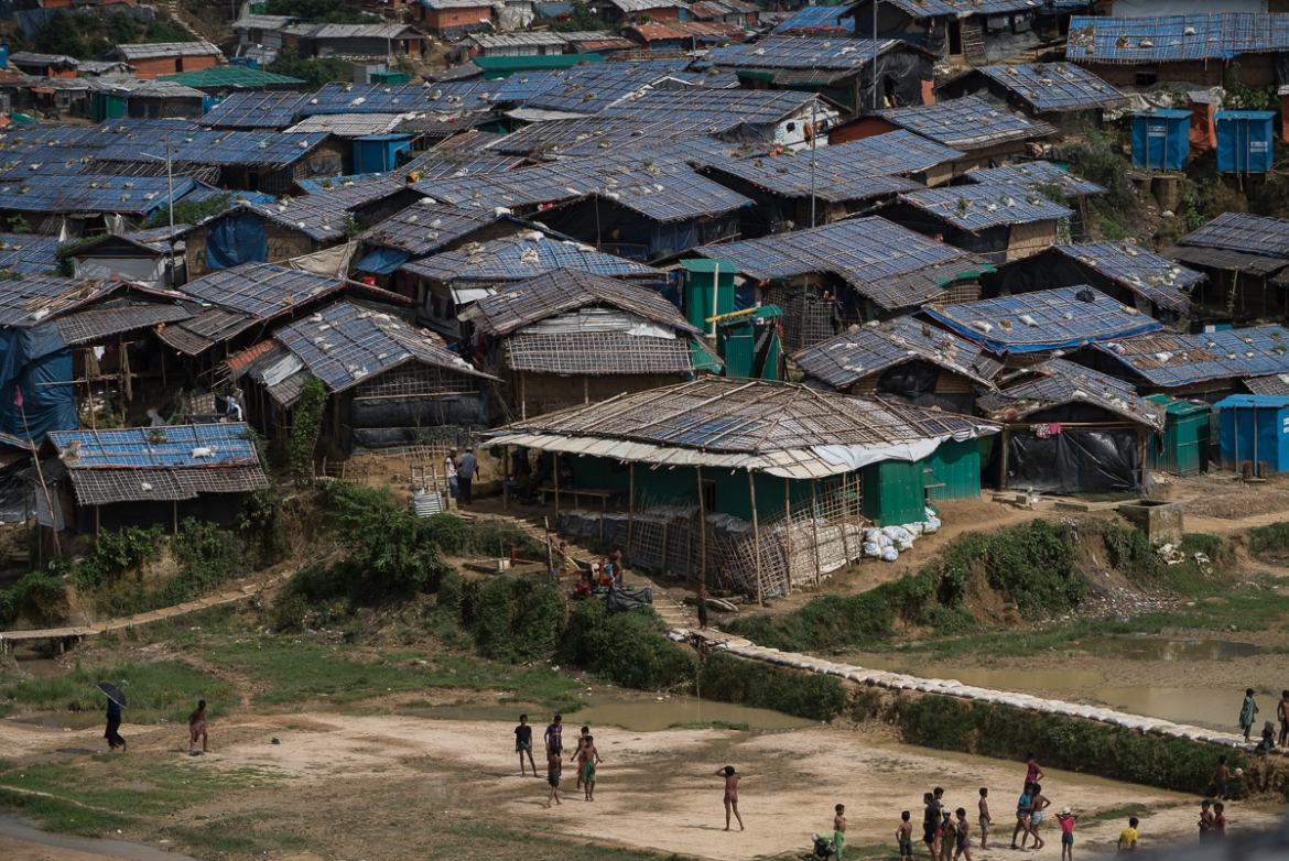 Kutupalong- Balukhali settlement complex has not only become the largest refugee camp in the world, but also the most densely populated, according to UN. [Sorin Furcoi/Al Jazeera]