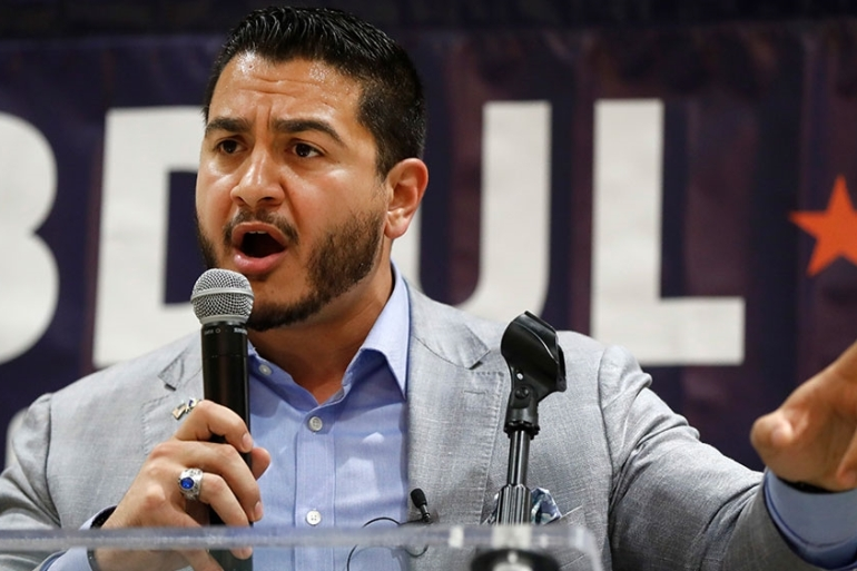 Abdul El-Sayed has been endorsed by Bernie Sanders and Alexandria Ocasio-Cortez [Paul Sancya/AP Photo]