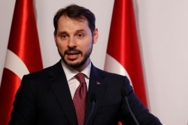 Albayrak's position at the heart of Erdogan's circle compounded bewilderment about his decision to quit [File: Murad Sezer/Reuters]