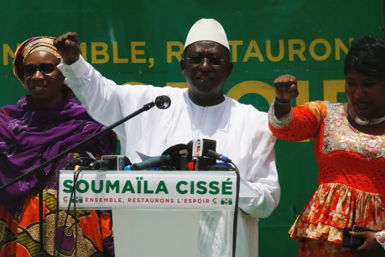 Soumaila Cisse is a former minister of finance and has run for president of Mali three times [FIile: Luc Gnago/Reuters]