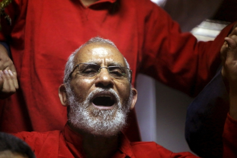 Muslim Brotherhood's Mohamed Badie will face another trial on October 7 [File: Mohamed Abd El Ghany/Reuters]