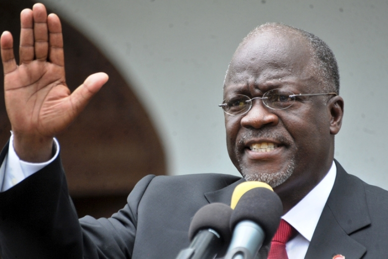 Magufuli called birth control users 'lazy' at a public rally on Sunday [File: Sadi Said/Reuters]
