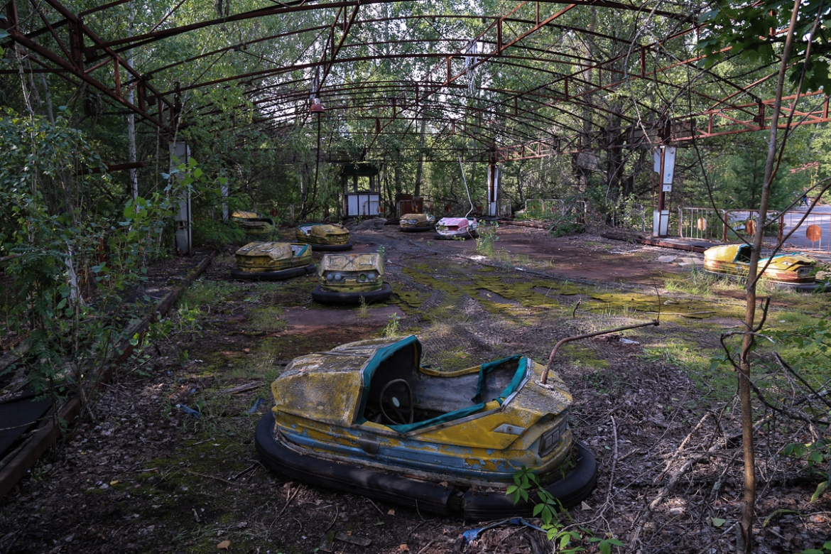 Purpose-built in 1970 to attract some of the Soviet Union's best scientists and their families, Pripyat enjoyed amenities unavailable in other communities. [Blake Sifton/Al Jazeera]