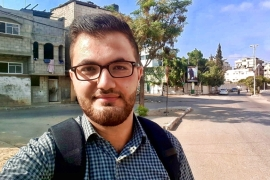 Mohamed Alhayek won a scholarship at the University of Debrecen but cannot leave Gaza in time [Al Jazeera]