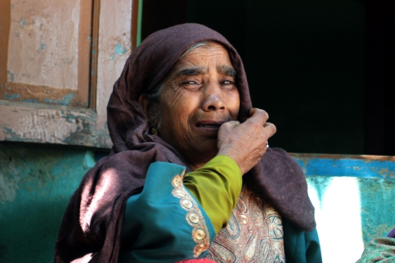 Malla Begum, whose policeman son Muhammad Yaqoob Shah, was killed by suspected rebels, said she would have begged him to resign had she known the risk to his life [Rifat Fareed/Al Jazeera]