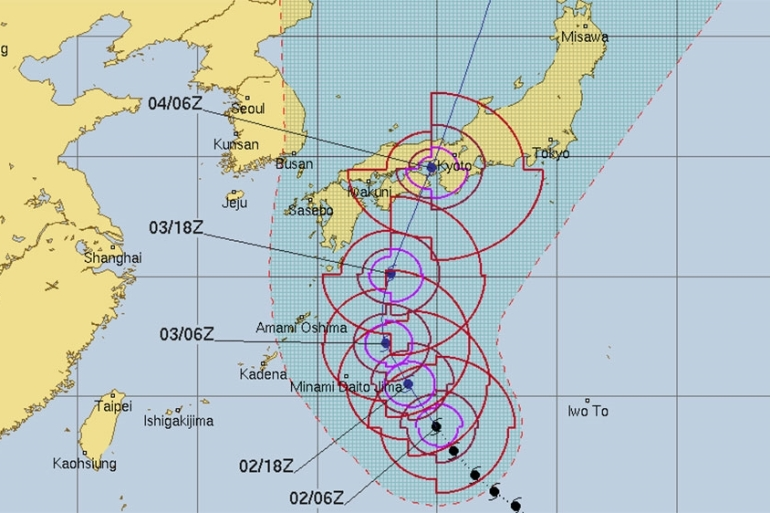 Hot on the heels of Typhoon Cimaron, Jebi is set to be the seventh tropical system to affect Japan this year [Al Jazeera]