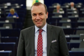Manfred Weber, Chairman of the European People Party group (EPP), is pictured at the European Parliament in Strasbourg, France, on September 11, 2018 [Vincent Kessler/Reuters]
