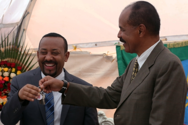 Since signing an agreement in Asmara on July 9 to restore ties, the two leaders have moved swiftly to end two decades of hostility [Minasse Wondimu Hailu/Anadolu]