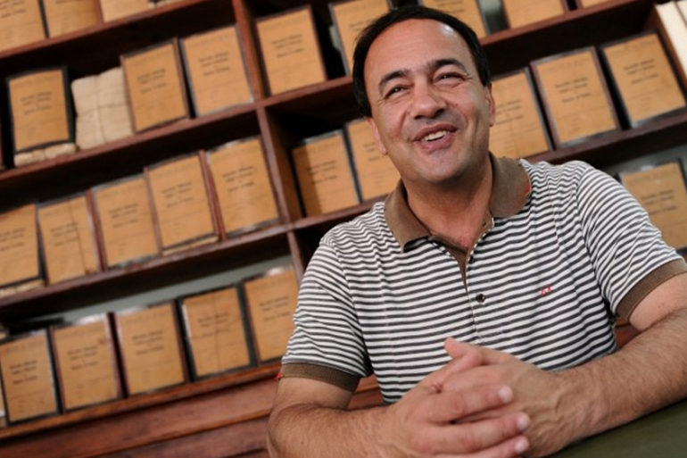 Riace mayor, Domenico Lucano has been arrested on the grounds of suspected aid to illegal immigration [File: Mario Laporta/AFP]