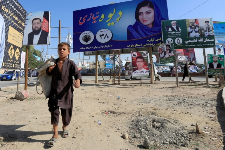 At least 10 candidates have already been killed in the run up to the October 20 parliamentary elections, with the Taliban promising further attacks [Parwiz/Reuters]