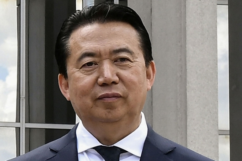 Meng Hongwei is being investigated by Chinese officials on suspicion of accepting bribes [File: Reuters]