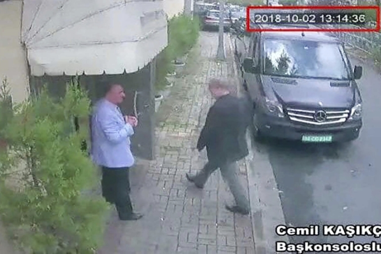 Khashoggi has not been heard from or seen since he entered the Saudi consulate on October 2 [CCTV/Hurriyet via AP]
