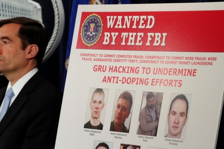 Russia's main intelligence directorate GRU is alleged the have been behind a series of hacks [Kevin Lamarque/Reuters]