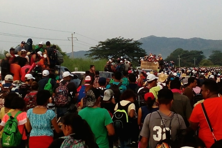 The current exodus from Honduras began two weeks ago [Sandra Cuffe/Al Jazeera]
