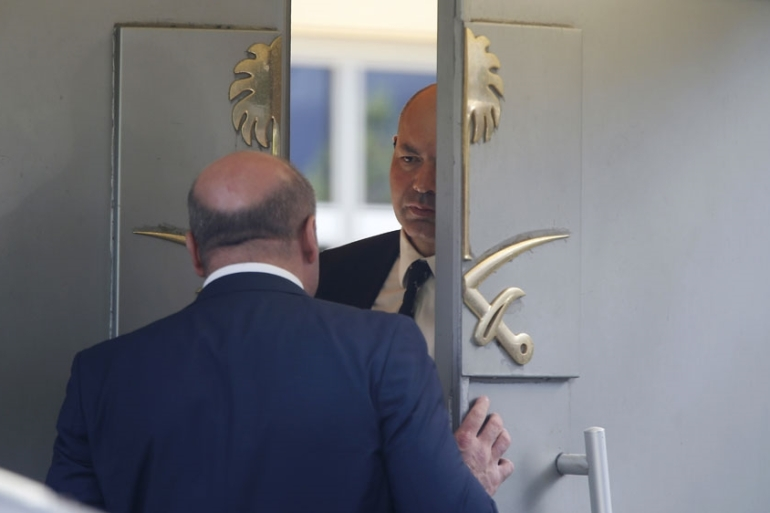 Turkish officials say Jamal Khashoggi was killed while visiting the Saudi consulate in Istanbul [Lefteris Pitarakis/AP]