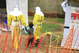 Even four-day-old babies are suspected of having Ebola, with the WHO reporting at least seven such cases [File: Al-hadji Kudra Maliro/AP]