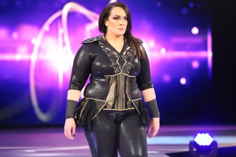 Nia Jax says she decided to become a wrestler after watching her cousin, The Rock, perform live [Courtesy: WWE]